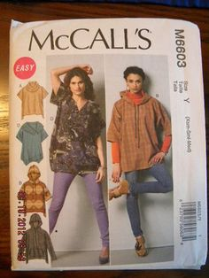 McCall's Pattern M6603 Ladies Tops 4 Styles sizes XS to Med New FREE SHIPPING