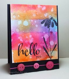 Day One OCC Watercolor Class - card two | Creatively LA   The Big, the Bold and the Happy  #winniewalter