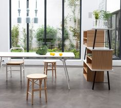 the 'y console' and 'y table' - designed by paris-based studio A+A cooren as guests of sam baron and friends -   are part of the 'y collection' produced for the largest mail order company in france la redoute.