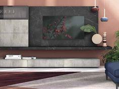 Parete attrezzata Soggiorno industrial minimal cemento Nuovi mondi in stile moderno a prezzo ribassato Next At Home, Flat Screen, Living Room, House, Space, Diy, Houses, Cement, Blood Plasma