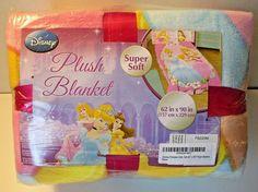"DISNEY PRINCESS Plush Blanket Super Soft 62"" x 90""  NEW #Disney"