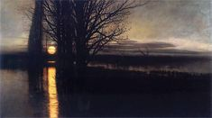 """Sometimes an artist creates one image in their lifetime that transcends everything else they have done. This is Moonrise by Polish realist painter Stanisław Masłowski Nocturne, Landscape Art, Landscape Paintings, Oil Canvas, Paintings I Love, Art Graphique, Figure Painting, Art History, Illustration Art"