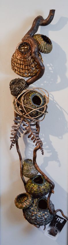 Top 7 Reasons to Purchase a Matt Tommey Sculptural Art Basket Rare: Every basket is completely unique and no one else creates baskets like these. You're getting artwork that is truly. Willow Weaving, Basket Weaving, Wall Sculptures, Sculpture Art, Vine And Branches, Pine Needle Baskets, Modern Rustic Decor, Encaustic Art, Gourd Art