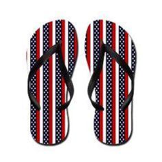 Patriot Stripes Flip Flops $16.00 from Flip-Flop Fanatic