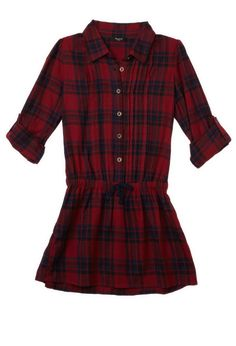 Plaid Shirt Dress (Kids) | FOREVER21 girls - 2000093061