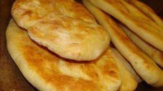 Easy Naan (Bread Machine) - Bread and Buns - Homemade Bread Naan Bread Machine Recipe, Bread Maker Recipes, Easy Bread Machine Recipes, Cooking Bread, Bread Baking, Cooking Recipes, Bread Food, Ma Baker, Fresh Bread