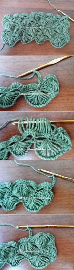 Пышный узор для вязания крючком | Всё об узорах вязаных крючком | Постила