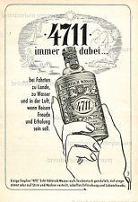 4711 Echt Köllnisch Wasser  IMMER DABEI - Original Anzeige von 1953