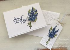 Karen Farquhar: Lots of Lavender Homemade Birthday Cards, Homemade Greeting Cards, Happy Birthday Cards, Homemade Cards, Lavender Stamp, Lavender Flowers, Cool Cards, Diy Cards, Stampinup