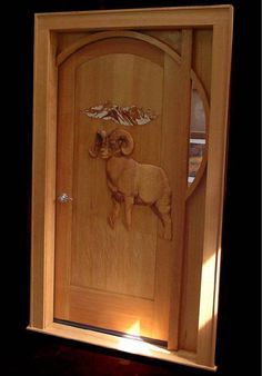 Hand Carved Entry Door