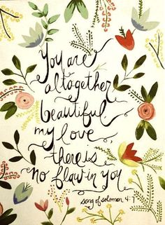 you are altogether beautiful