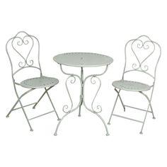 Gartenmöbel SET im Landhausstil Tisch + 2 Stühle grün 5Y0129 |Deko-Salon Online Shop ähnliche tolle Projekte und Ideen wie im Bild vorgestellt findest du auch in unserem Magazin . Wir freuen uns auf deinen Besuch. Liebe Grüße