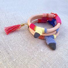 leather crochet and pebble bracelet by kjoo on Etsy, $55.00
