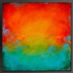 Looking Glass 3 30 x 30 Original Abstract por CharlensAbstracts