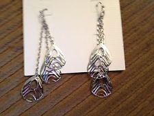 New Lia Sophia Silver Fanfare Earrings