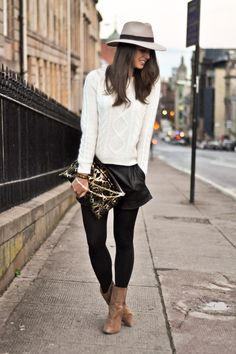 clutch and boots, perfect accessories!