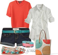 """""""Summer preppy"""" by shauna-rogers ❤ liked on Polyvore"""