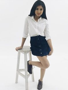 """ ⓒ@ joannagee"" Filipina Actress, James Reid, Nadine Lustre, Jadine, Best Actress, Cute Couples, Mini Skirts, Ballet Skirt, Normcore"