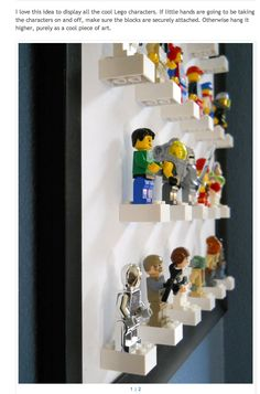 Lego Storage Ideas: The Ultimate Lego Organisation Guide Lego storage ideas & photos. How to organise lego by colour, size, set or purpose. Plus ideas on how to display Lego. The ultimate Lego storage guide! Minifigura Lego, Lego Men, Lego Guys, Lego Minecraft, Lego Star, Deco Lego, Mini Figure Display, Figurine Lego, Lego Display