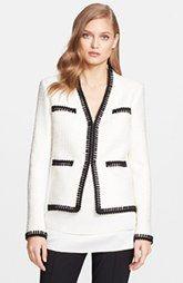 St. John Collection Novelty Eyelash Shantung Knit Jacket