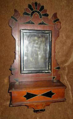 Other Eastlake Deep Gilt Picture Frame Painted Faux Marble Antique 19th C Marbleized Delicious In Taste