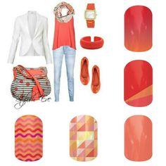Tangerine summer Jamberry nails