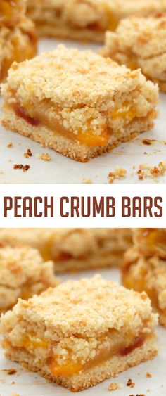 Peach Crumb Bars. #CompleteRecipes #recipe #recipes #food #foodgasm #cleaneating #healthyfood #healthy #healthyrecipes