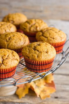 Pumpkin muffins with coconut oil