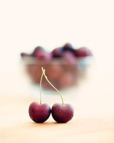 Kitchen Art Food Photography Cherries Fruit by BreeMadden
