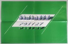 Concrete Poetry 1968 exhibition poster by Milton Glaser Milton Glaser, Exhibition Poster, Concrete, Poetry, Poetry Books, Poem, Poems