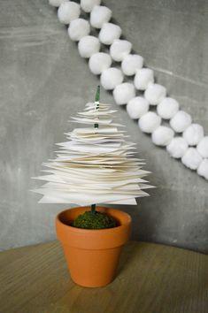 Fräulein Löwenzahn wird Kindergärtnerin: Selbstgemachte Weihnachtsbäume