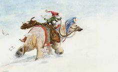 The Polar Bear Express by ArtbyKimKincaid on Etsy