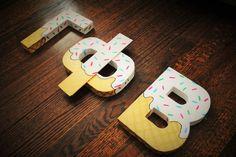 DIY ice cream letters tutorial sorority gamma phi beta