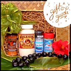 """Hawaiian Christmas GiftBaskets on """"SPECIAL"""" now on our HCC website.  Go to our HCC website under category: """"Hawaiian Christmas Gift Baskets"""" click to view all our special holiday gifts baskets to choose from. It's not to late to purchase a gift basket or any of our items and ship to a loved one, friend or business associate for the holidays. I sweet, delicious reminder that you care and show to your Christmas spirit. www.hawaii-coffee-connection.com☕️"""