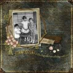 Memories In Time - Digital Scrapbooking - Family History. Love how the photo is framed in this layout by Mars. Precious Memories Value Collection by Lauren Bavin