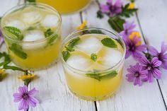 Pineapple Mint Spritzer - a great way to jazz up your fresh pineapple juice!  #pineapplejuice #pineapplemintspritzer #spritzer