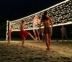 Lit up volleyball net this would be perfect for summer ☀️