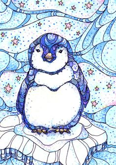 Penguin Art Print by Kate Fitzpatrick | Society6