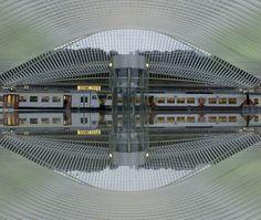 Koop 'Trainstation Liege(Luik)' van Brian Morgan voor aan de muur.
