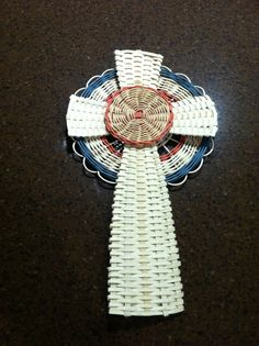 This is a Celtic Cross I recently created.  It is made of three separate pieces that are sewn together with waxed linen thread.