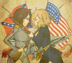 APH: FEM! Confederate VS Union by Airi-X