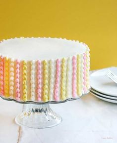 Cake Decorating ideas (I like the cover photo with flowers on top maybe?)