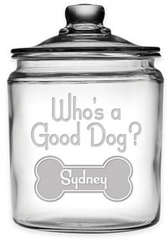 Dog Lover Products 116378: Whos A Good Dog? 64 Oz.Treat Jar With Lid BUY IT NOW ONLY: $54.95
