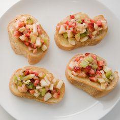 fruit bruschetta/salsa/salad. scrumptious(: