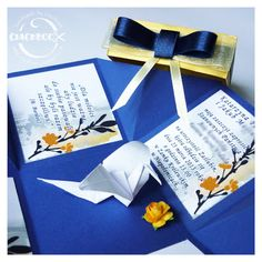 wedding invitations, origami, paper crane by Ciachbook