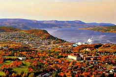 Another pic of fall in corner brook that robs buddy sent. O Canada, Canada Travel, Atlantic Canada, Newfoundland And Labrador, Island Tour, Amazing Pics, Salt And Water, Beautiful Islands, East Coast