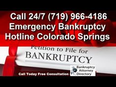 Emergency Bankruptcy Lawyer in Colorado Springs https://drive.google.com/open?id=1FPGTaI7Qp69ZdWYQ7Th1RpVYWjs&usp=sharing