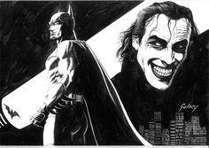 Batman & Joker by Paul Gulacy