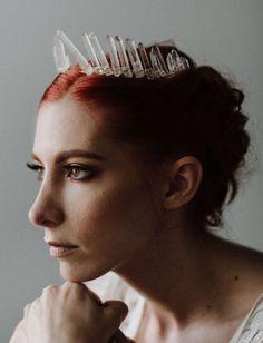 crystal quartz crown #weddinghair #weddingcrown #crystalcrown