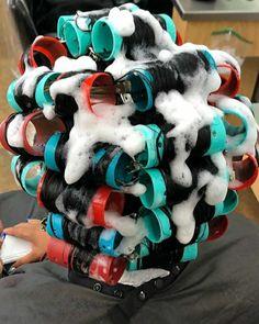 Natural Hair Regimen, Natural Hair Growth, Natural Hair Styles, Roller Set Hairstyles, Kid Hairstyles, New Perm, Sleep In Hair Rollers, 60s Hair, Marley Twists
